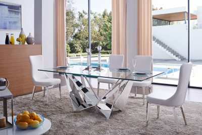Dining Room Furniture Modern Casual Dining Sets 2061 Table and 6138 Chairs