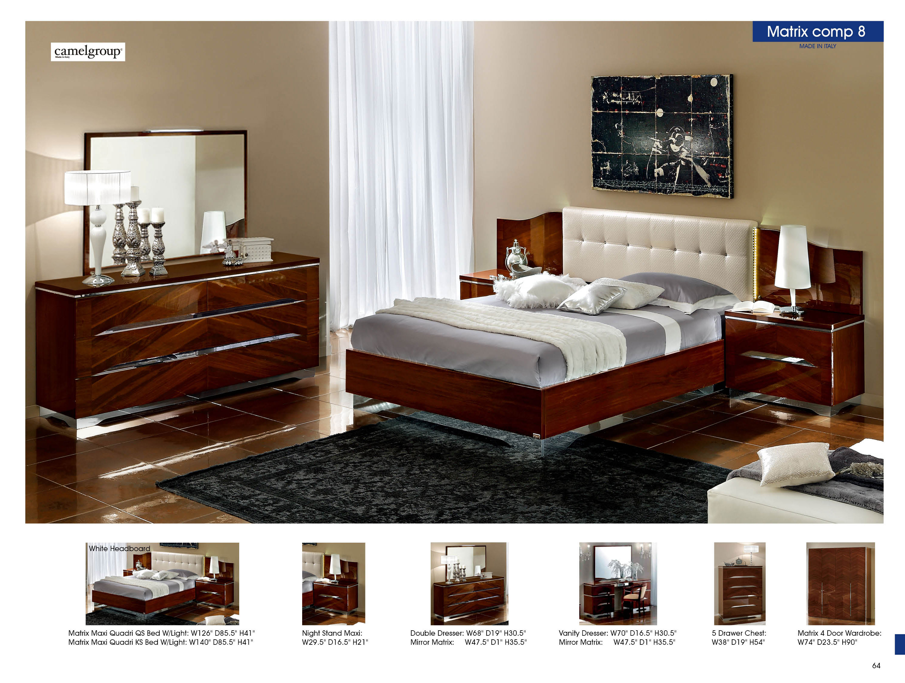 White Headboard Camelgroup Italy Modern Bedrooms Bedroom Furniture. home ...