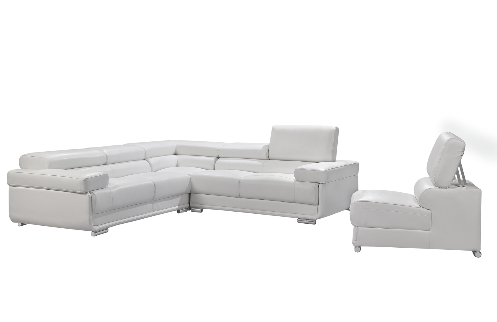 2119 Sectional White, Sectionals, Living Room Furniture