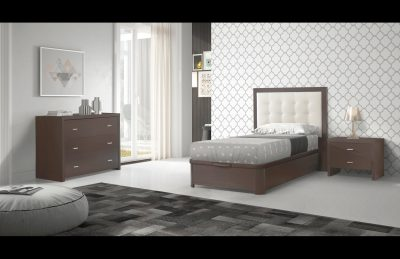 Bedroom  Furniture Twin Size Kids Bedrooms Regina Storage TS, FS Wenge Bedroom