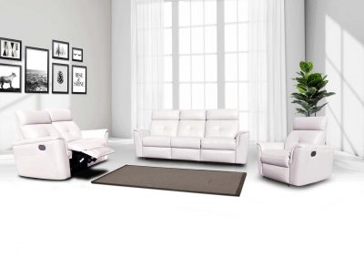 Living Room Furniture Sofas Loveseats and Chairs 8501 Recliner Snow White