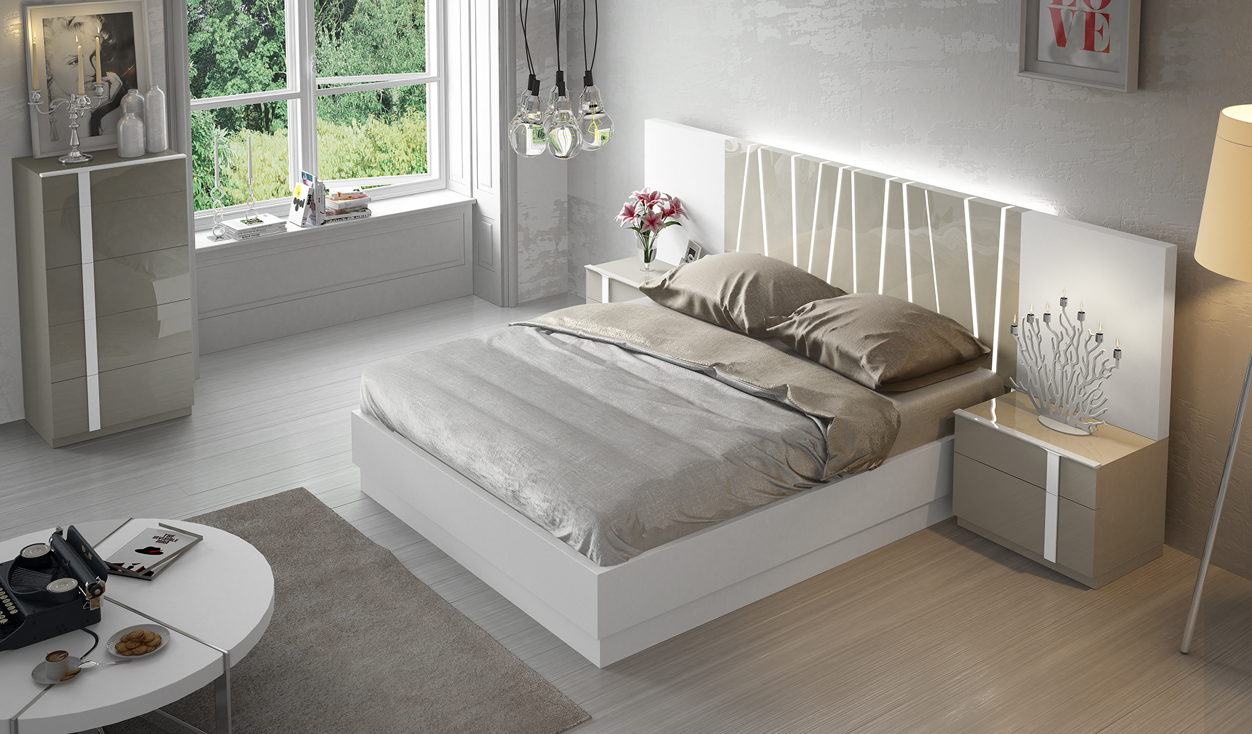 Brands Fenicia Modern Bedroom Sets, Spain Fenicia Composition 2 / comp 606