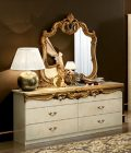 Barocco Ivory/Gold Double Dresser
