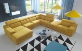 Brands Galla Leather Collection, Europe Luciano Sectional